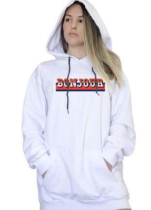 Casaco canguru branco feminino bonjour 058