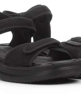 Sandália preto papete feminino prático confortável leve