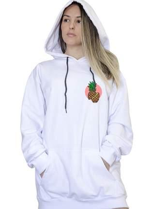 Casaco canguru branco feminino pineaplle 033