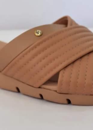 Sandália casual rasteira feminino  azaleia tiras
