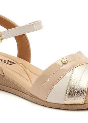 Sandália anabela feminino comfortflex casual  2070404