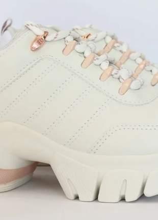 Tênis feminino casual modelo sneaker solado alto ramarim