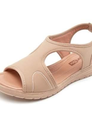 Sandália feminina comfort flex ortopédica lycra