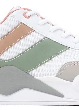 Tênis feminino casual modelo chunky dad sneaker ramarim