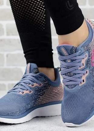 Tênis feminino candy super leve esportivo palmilha feetpad