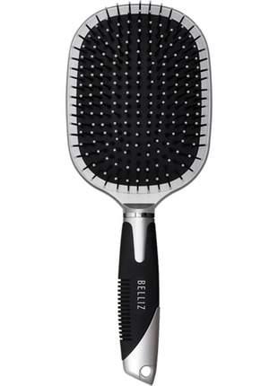 Escova cabelo belliz 751 almofadada raquete desembaraça