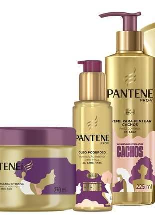 Kit sh+cond+masc+creme pent+óleo unidas pelos cachos pantene 05 itens