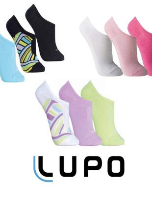 Kit 9 pares meias soquete feminina lupo sapatilha invisível - 3271