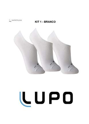 Kit 9 pares de meias lupo sapatilha soquete invisível original black friday - 3270