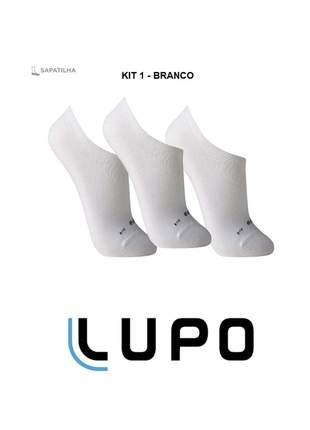 Kit 12 pares de meias lupo sapatilha soquete invisível original black friday - 3270