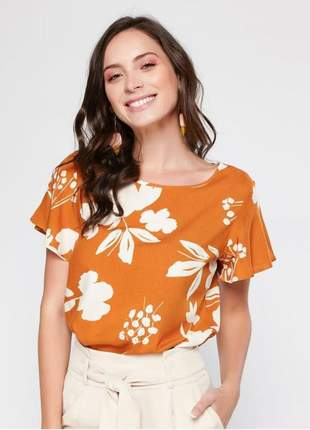 Blusa feminina floral cobre tam.: m _ 40