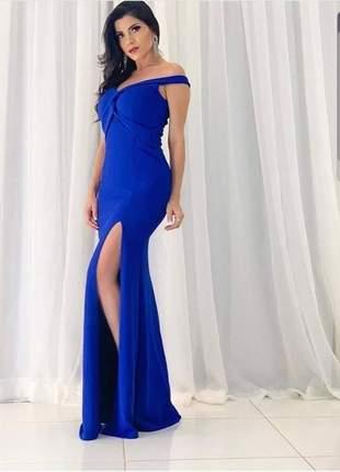Vestido azul royal festa madrinha casamento convidada formatura eventos pronta entrega