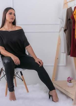 Bata blusa decote canoa manga morcego feminina