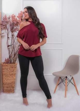 Blusa bata ombro de fora moda feminina