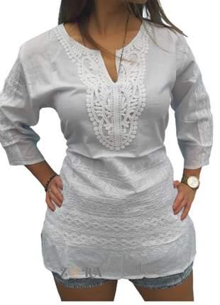 Bata branca algodão indiana