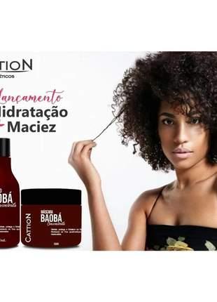 Kit baobá shampoo e máscara para cabelos cacheados, crespos e secos cattion