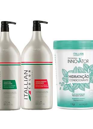 Kit lavatório itallian color shampoo + condicionador + máscara innovator 1 kg