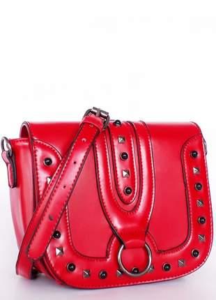 20e27c10c Bolsa feminina vermelha - R$ 70.00 (de couro sintetico) #8596 ...