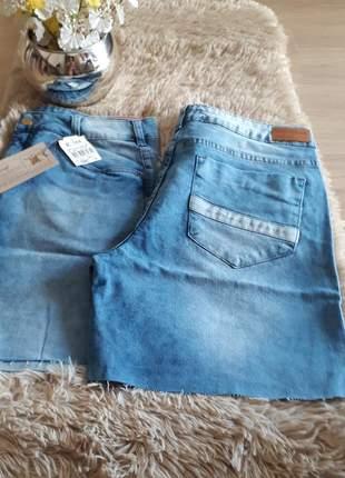 Bermuda jeans meia coxa