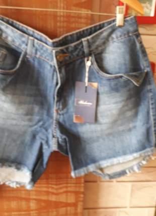 Short jeans  bolso faca