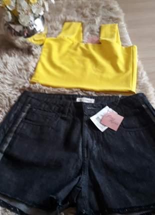 Short jeans tricomix