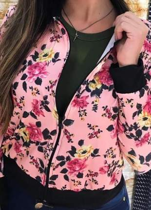 Jaqueta feminina estampado