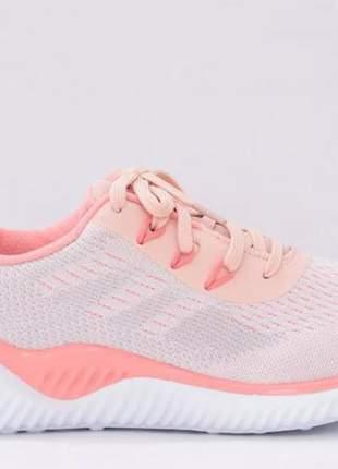 Tênis feminino academia rosa coral esportivo actvitta leve