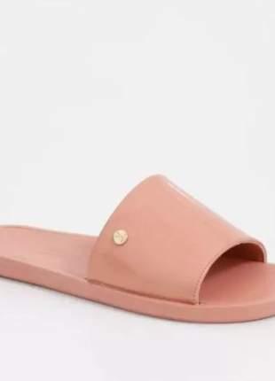 Chinelo slide casual feminino light blush vizzano