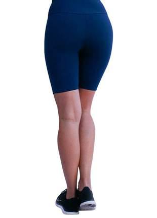 Bermuda ciclista feminina azul marinho