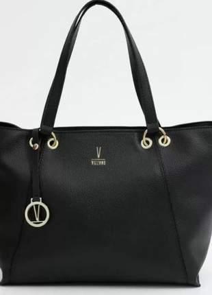Bolsa vizzano tote shopper sacola feminina preto