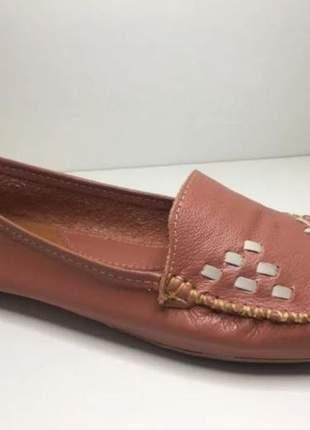Sapato mocassim coral liso sapatilha retro super estiloso