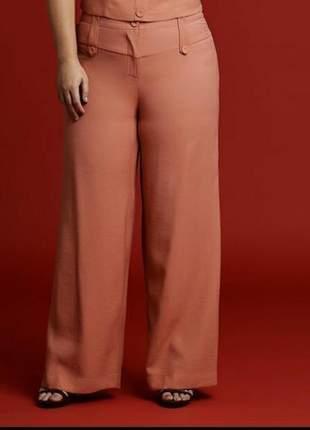 Calça pantalona plus size laranja