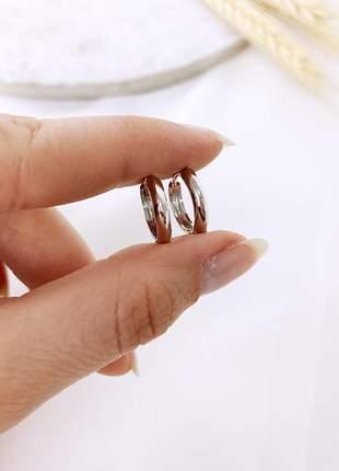 Brinco argolinha folheada olivia