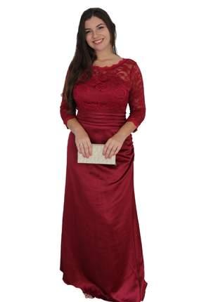 Vestido manguinha longo senhoras moda evangélica casamento igreja formatura bojo bodas