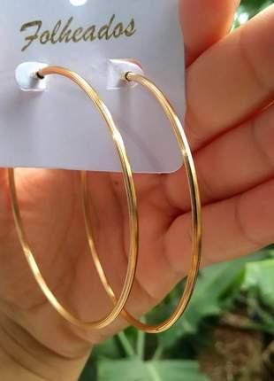 Brinco feminino argola folheada ouro