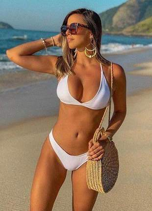 Biquíni preto asa delta biquini biquinis feminino moda praia verão