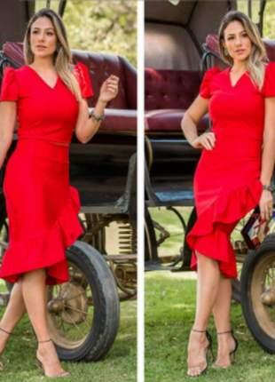 Conjunto feminino de saia e cropped de crepe fendi