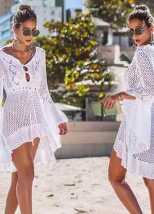 Saída de praia de tricot