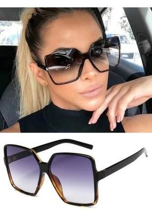 Oculos de sol feminino moda glamour total c/ case e flanela