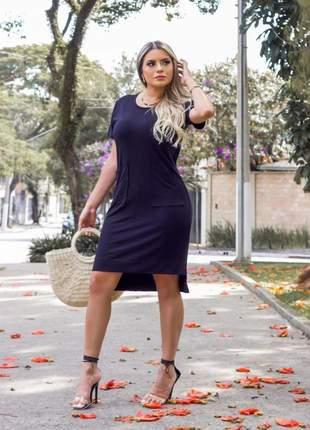 Vestido mullet com bolso