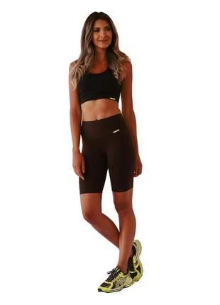 Bermuda ciclista feminina marrom