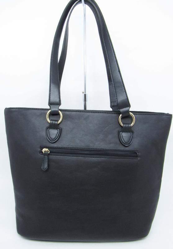 0dd13d657 Bolsa preta grande ombro basica tote shopper gash - R$ 139.99 (de ...