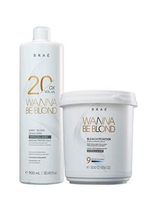 Kit braé wanna be blond pó descolorante 500g + 20 vol. 900ml