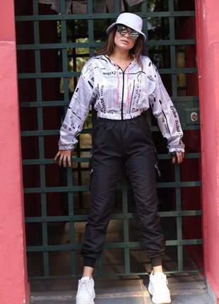 Calça jogger feminina riot tumblr roupa feminina gringa  feminina blogueira  bolso lateral