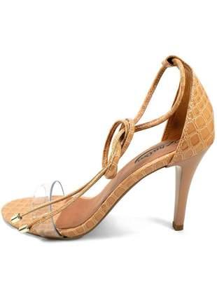 Sandália croco de amarrar zhaceci