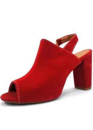 Ankle boot vermelho zhaceci