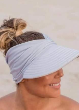 Viseira de praia bandana- turbante verão