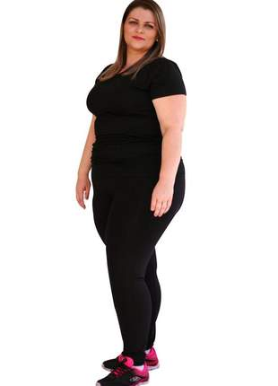 Legging feminina plus size preta