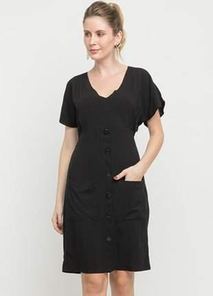 Vestido feminino curto bolso tam.: m _ 40