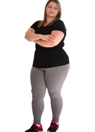 Legging feminina plus size cinza/mescla clara